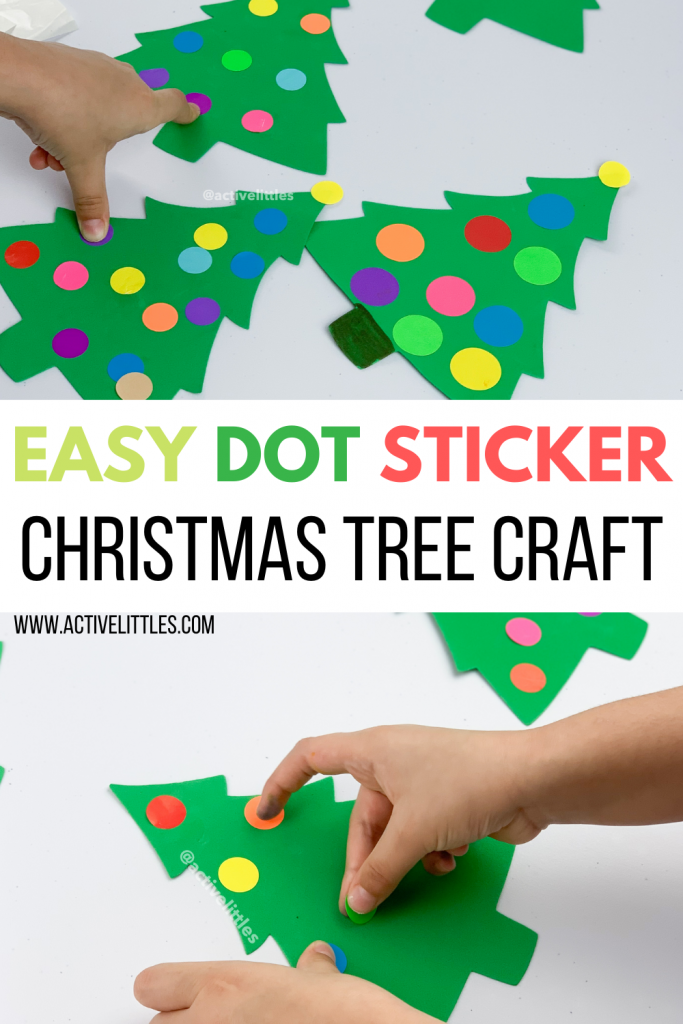 christmas tree dot sticker kids activity for toddlers
