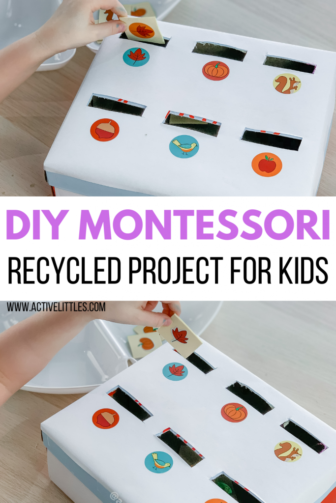 diy montessori recycled project for kids