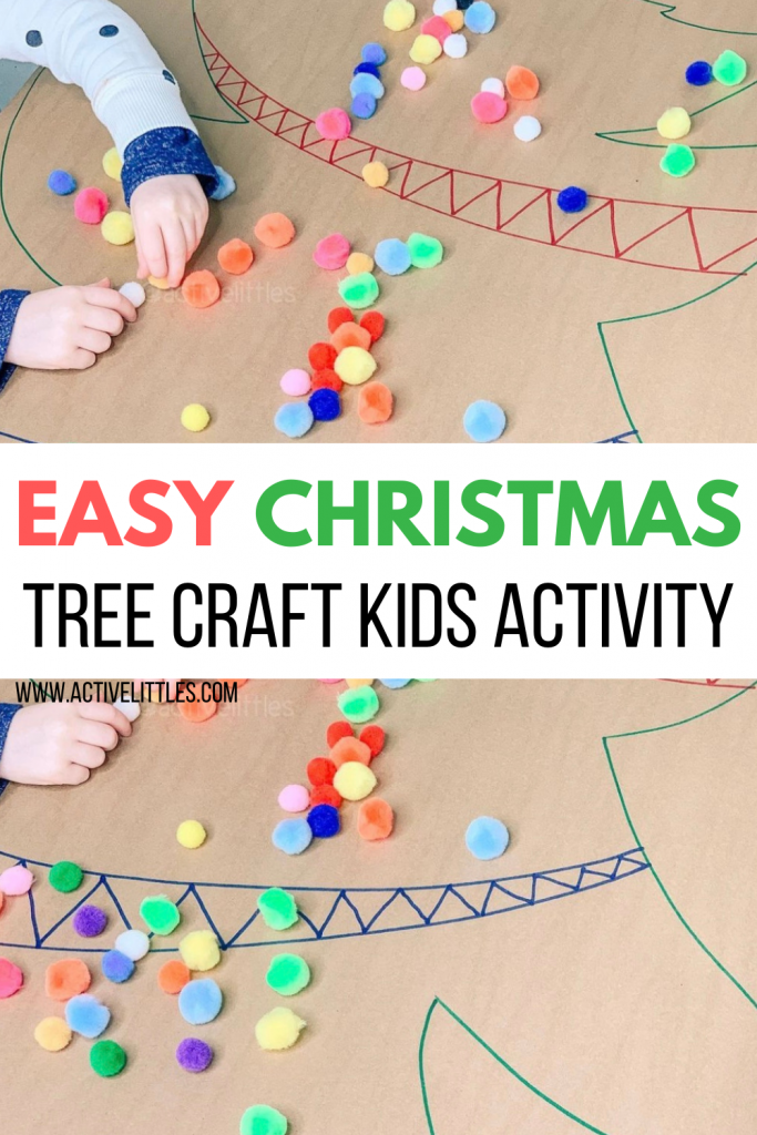 easy christmas tree craft activity for kids