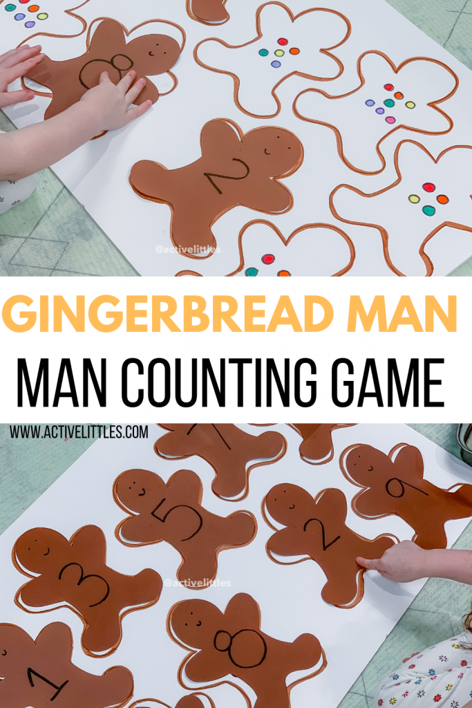 easy gingerbread man counting game for preschool