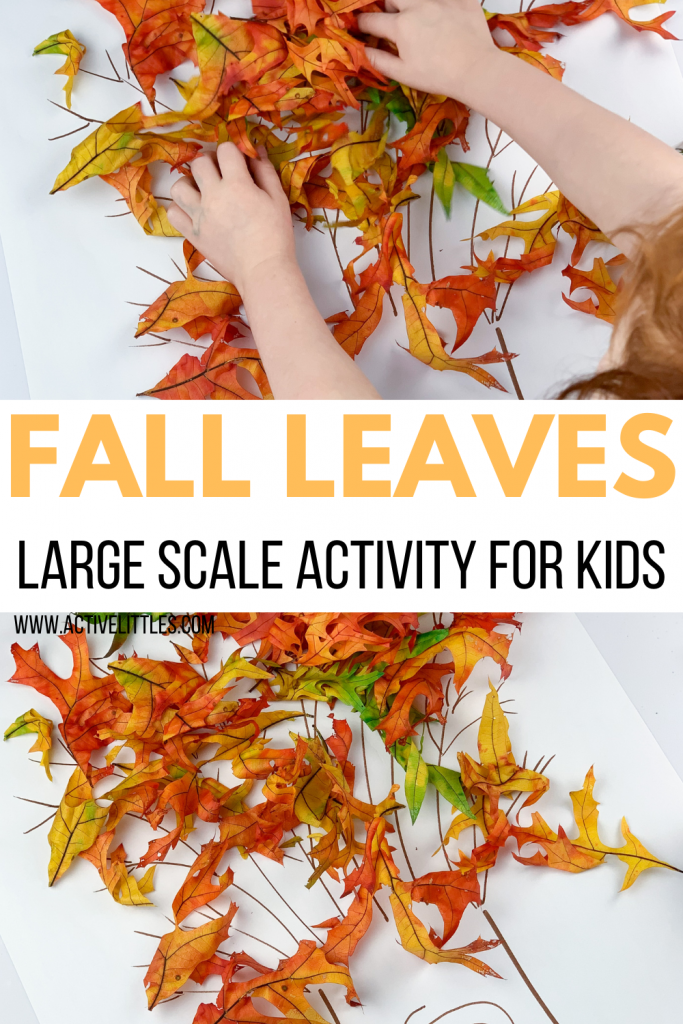 fall leaf large scale activity for kids