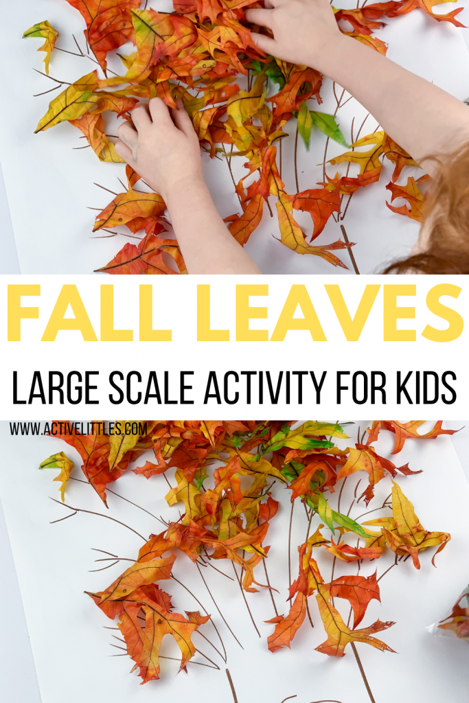 fall leaves large scale kids activity