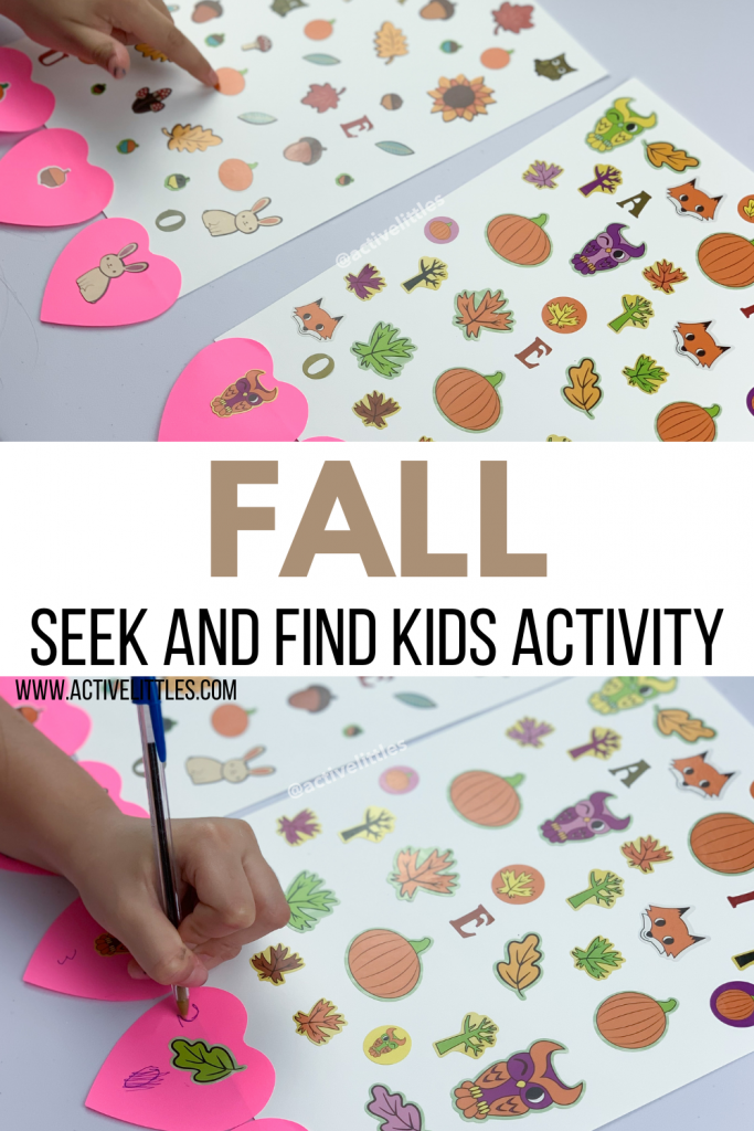 fall seek and find game for kids activity