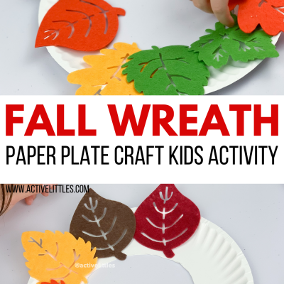 fall wreath activity for kids