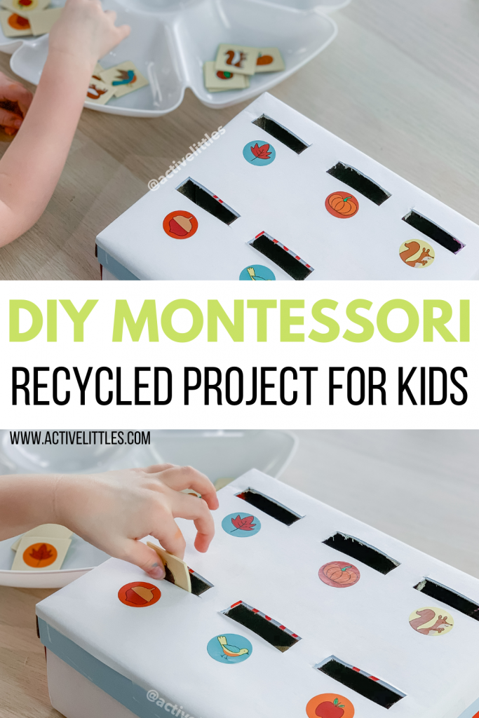 montessori recycled craft for kids