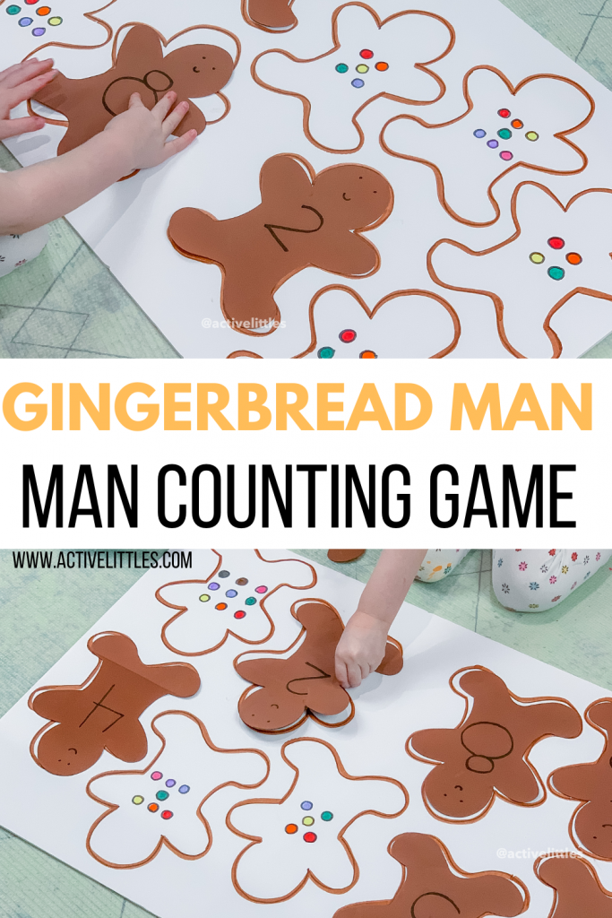 simple gingerbread man game for kids