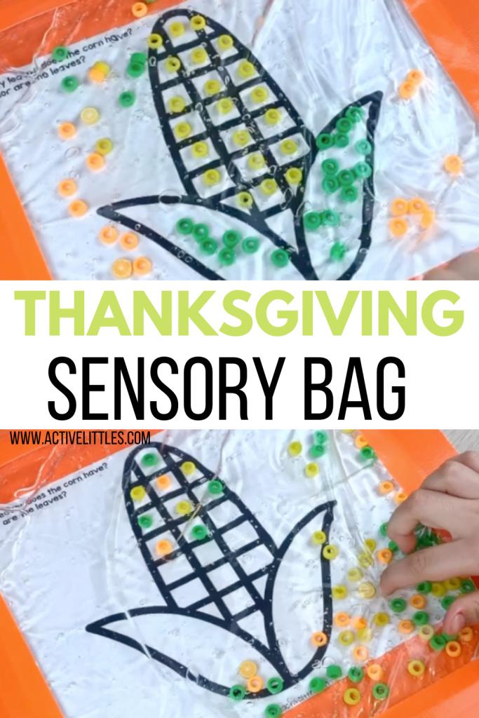 thanksgiving sensory bag for kids