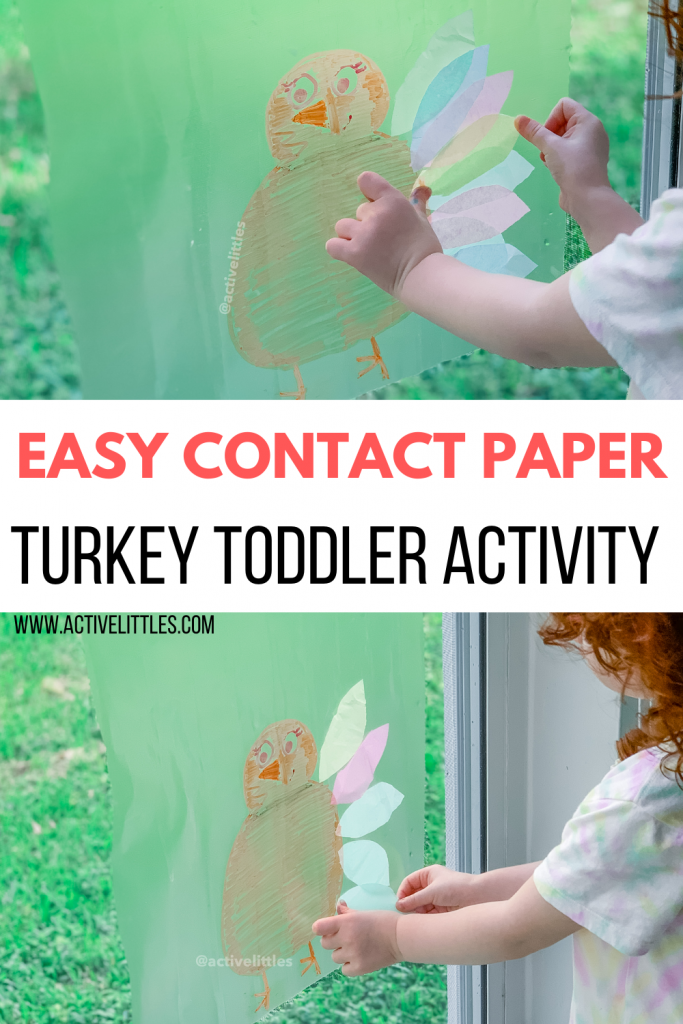 turkey contact paper sticky wall activity