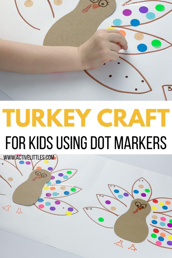 turkey craft for kids using dot stickers