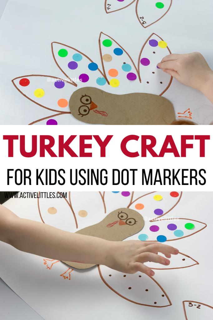 turkey dot sticker craft for kids