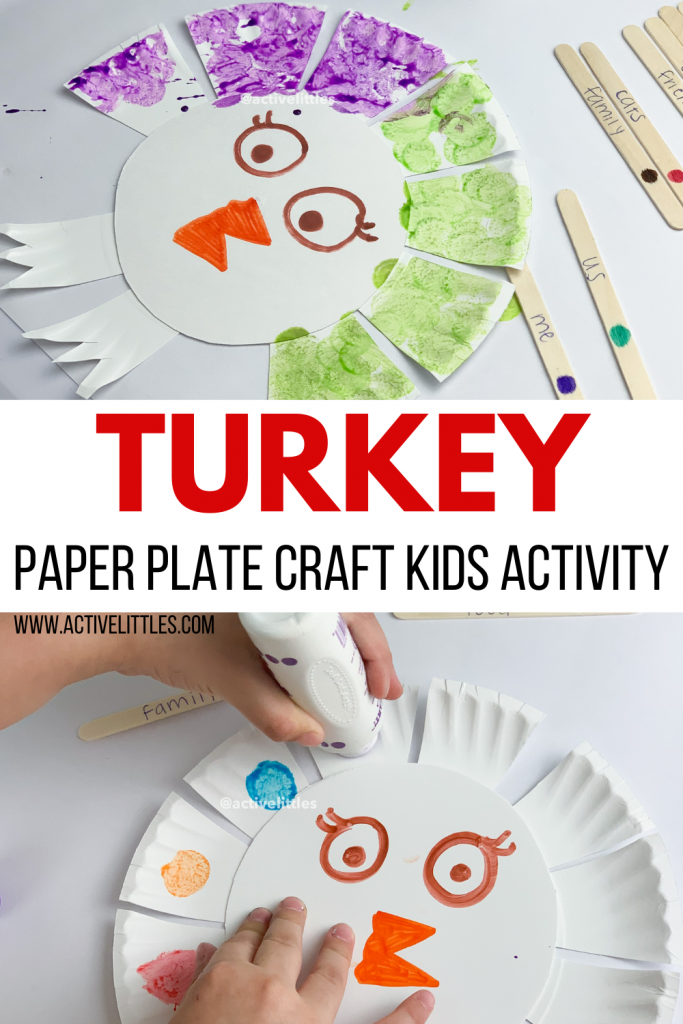 turkey paper plate craft for kids