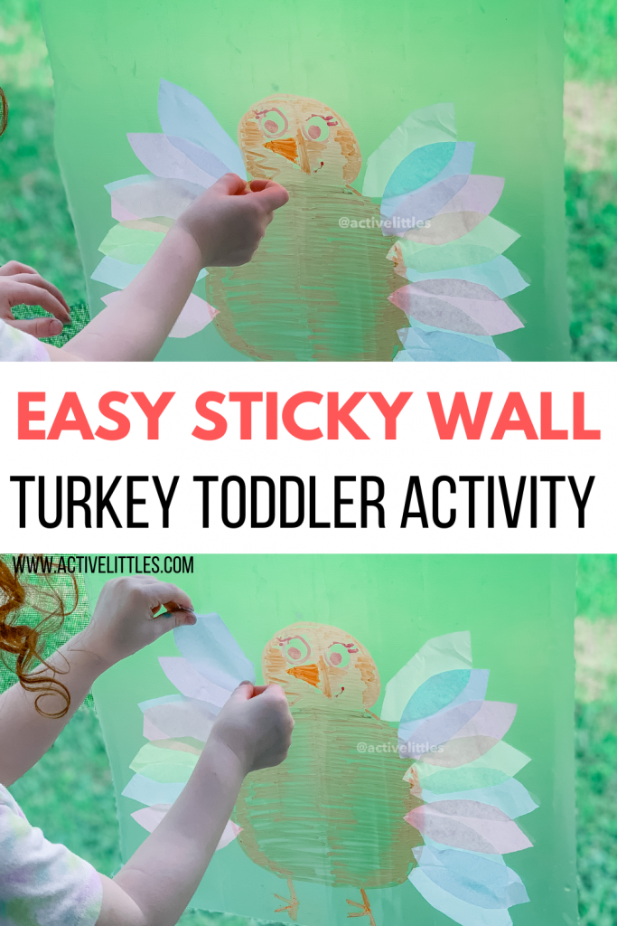 turkey sticky wall contact paper activity
