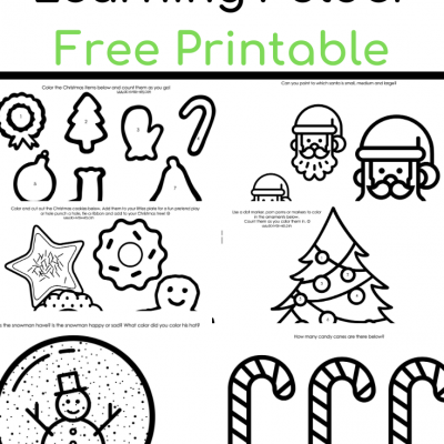 Christmas Learning Folder Free Printable