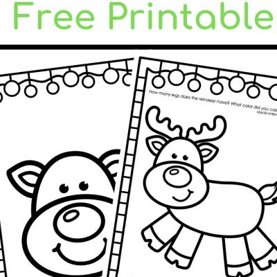 Reindeer Free Printable Toddlers Preschool