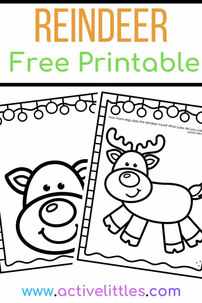 Reindeer Free Printable Toddlers Preschool