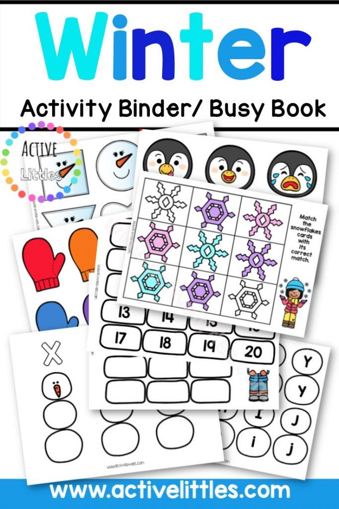 Winter Preschool Activity Binder - Active Littles
