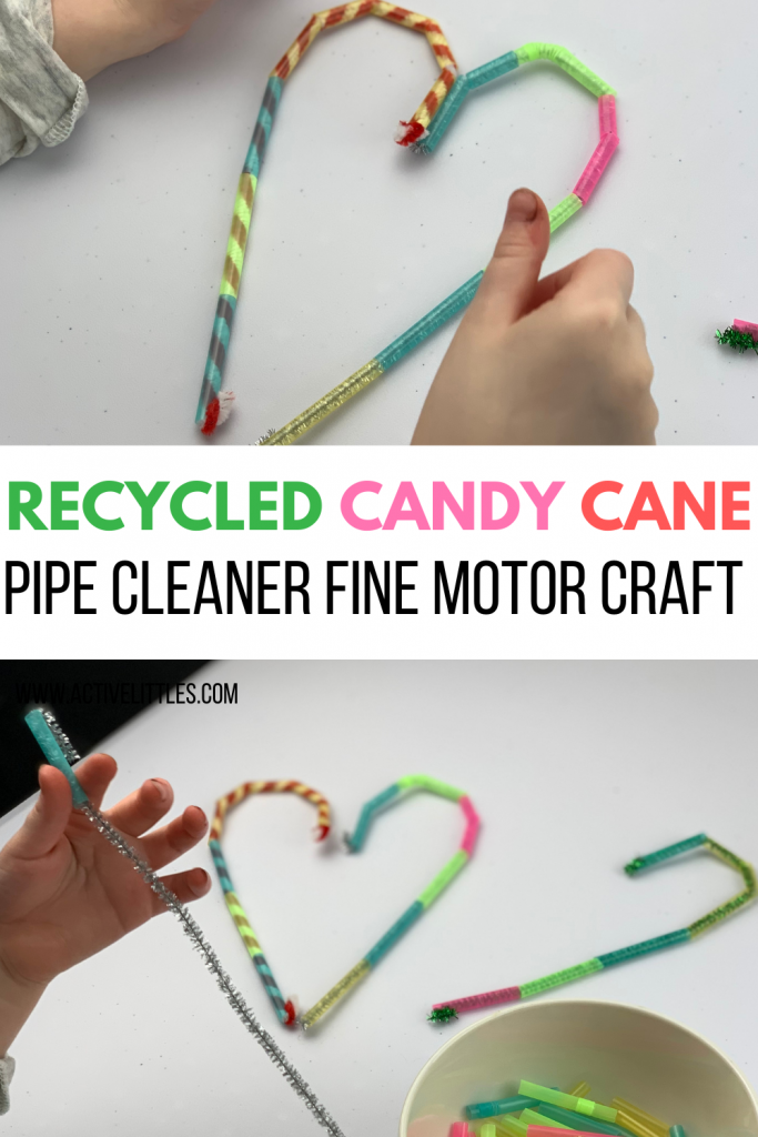 candy cane pipe cleaner fine motor activity