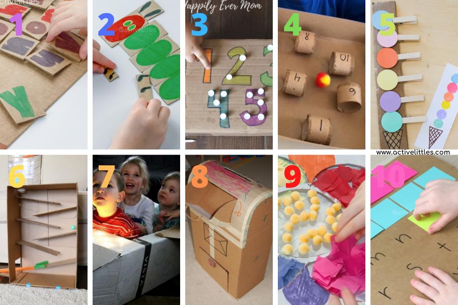 cardboard activities for preschoolers