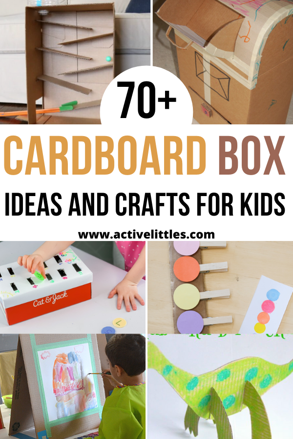 cardboard box ideas and crafts for kids toddlers preschool and more