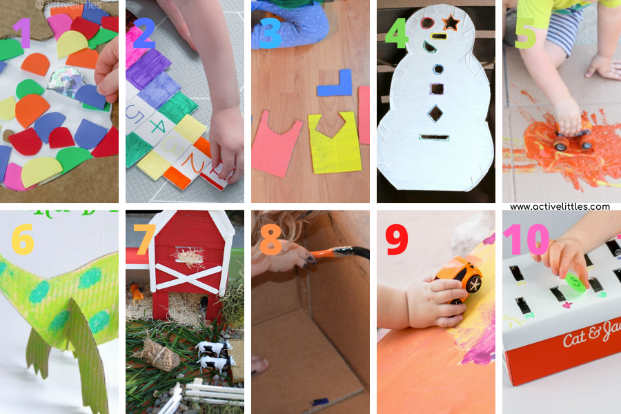 cardboard crafts for toddlers