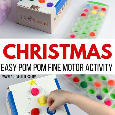 christmas posting activity for kids