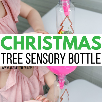 christmas tree scoop and pour kids activity