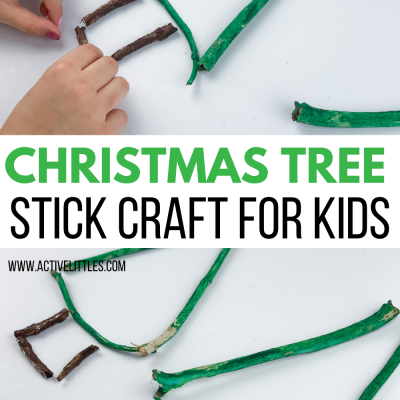 christmas tree stick craft activity