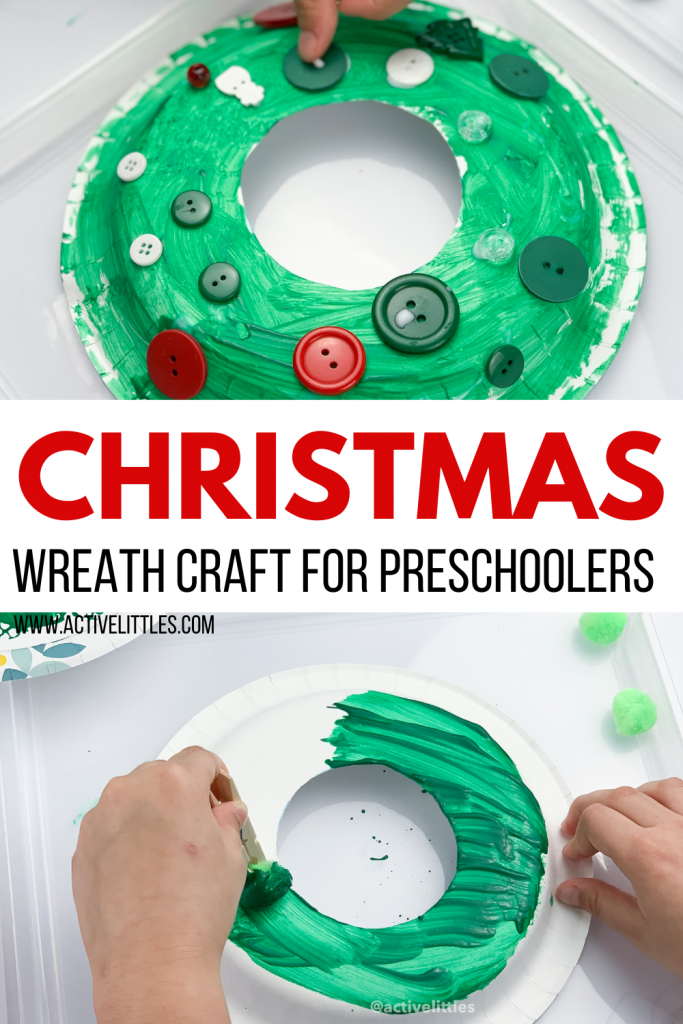 christmas wreath craft for preschool