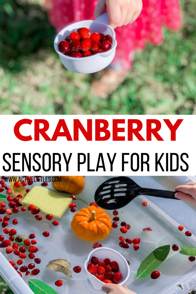 cranberry sensory play for kids