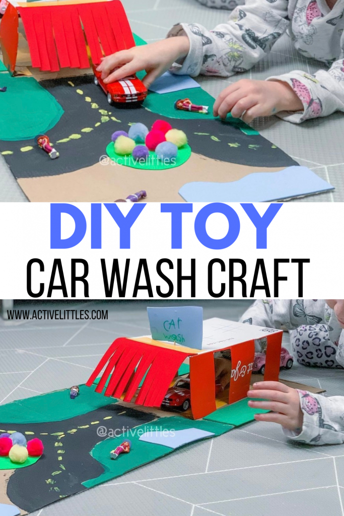 diy toy car wash craft for toddlers and preschool