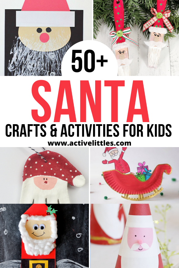 easy santa crafts and activities for kids