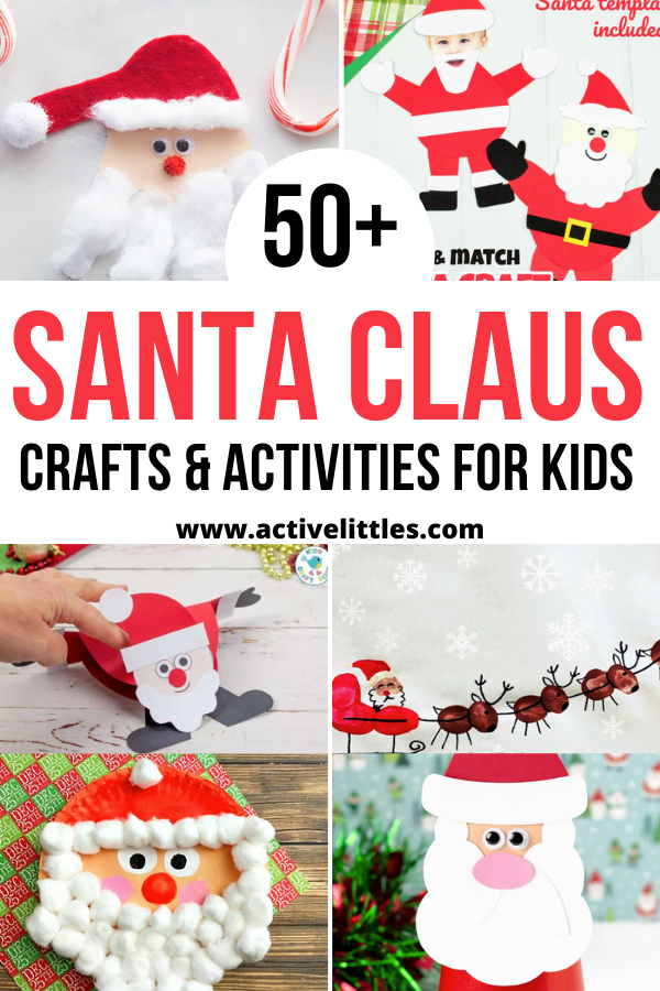 easy santa crafts for kids