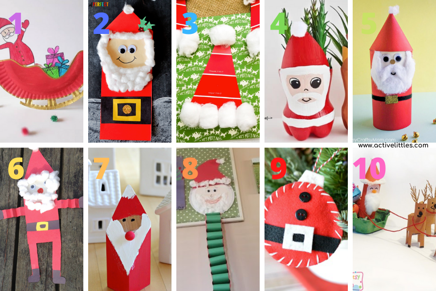 fun santa claus crafts to make
