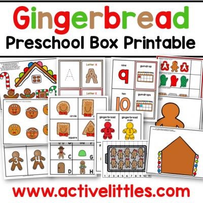 gingerbread preschool task box preschool printable pack