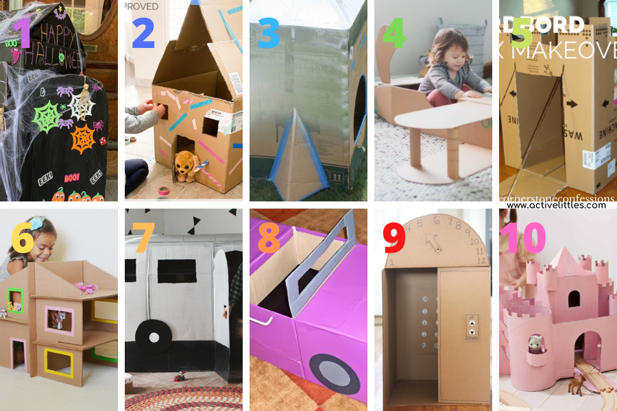 how to make a cardboard house and more