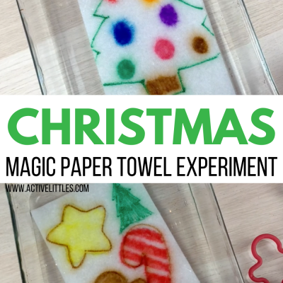 magic paper towel experiment for kids christmas