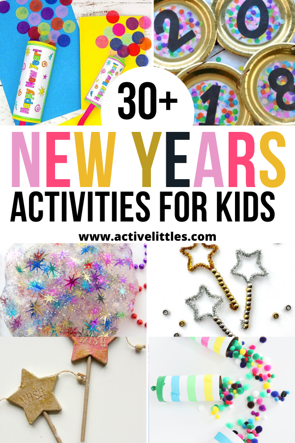 new years activities and crafts for kids