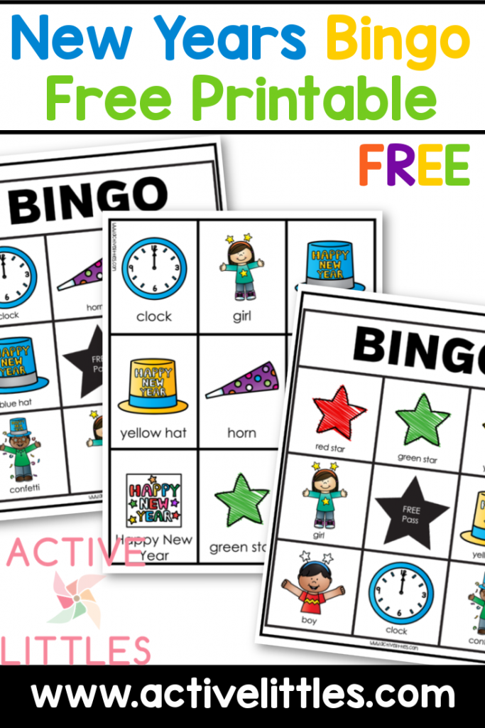 new years bingo free printable for kids