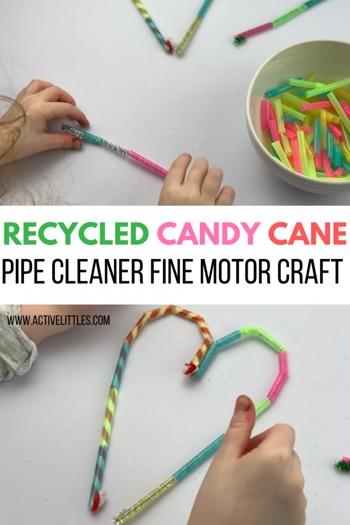 recycled pipe cleaner fine motor activity for kids