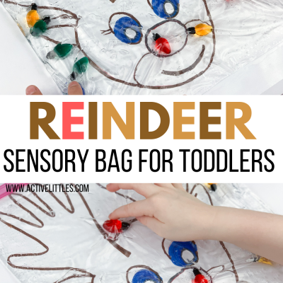 reindeer sensory bag for toddlers