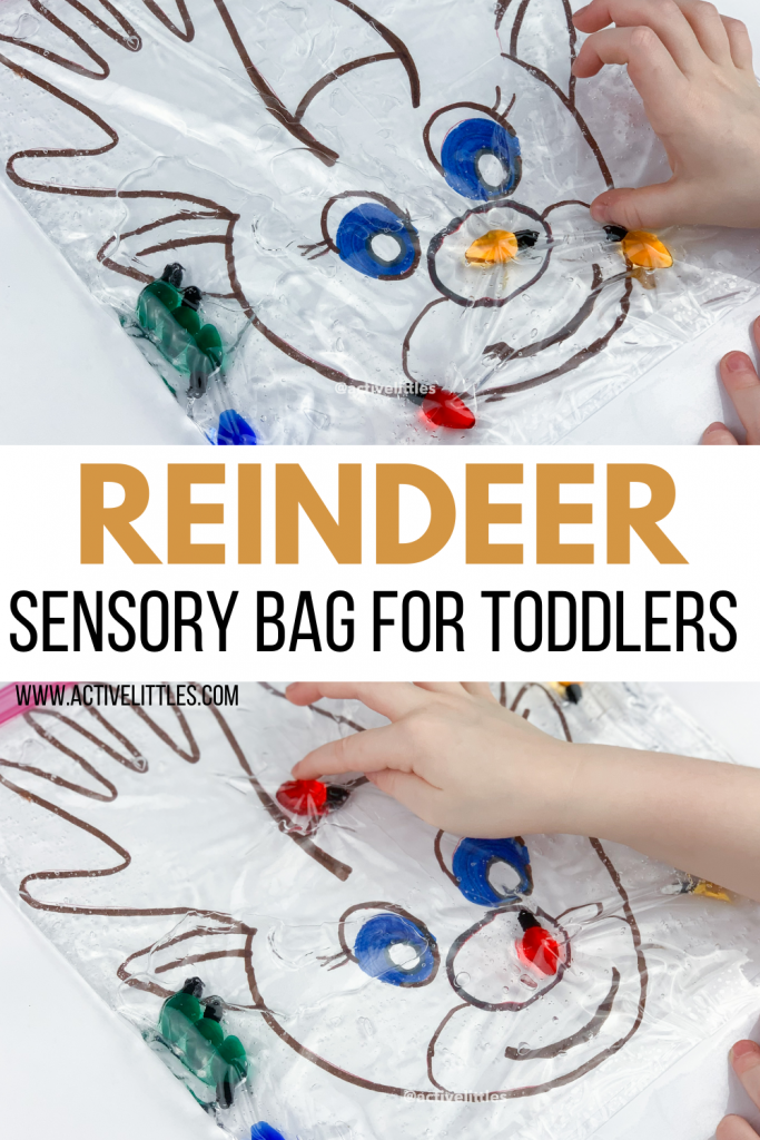 reindeer sensory bag for toddlers and preschool