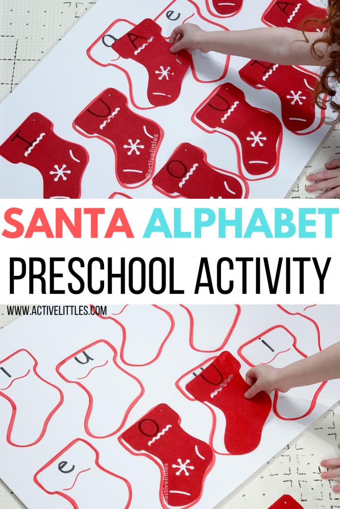 santa alphabet matching preschool activity