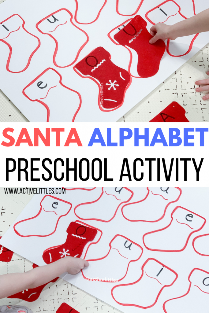 santa alphabet preschool activity