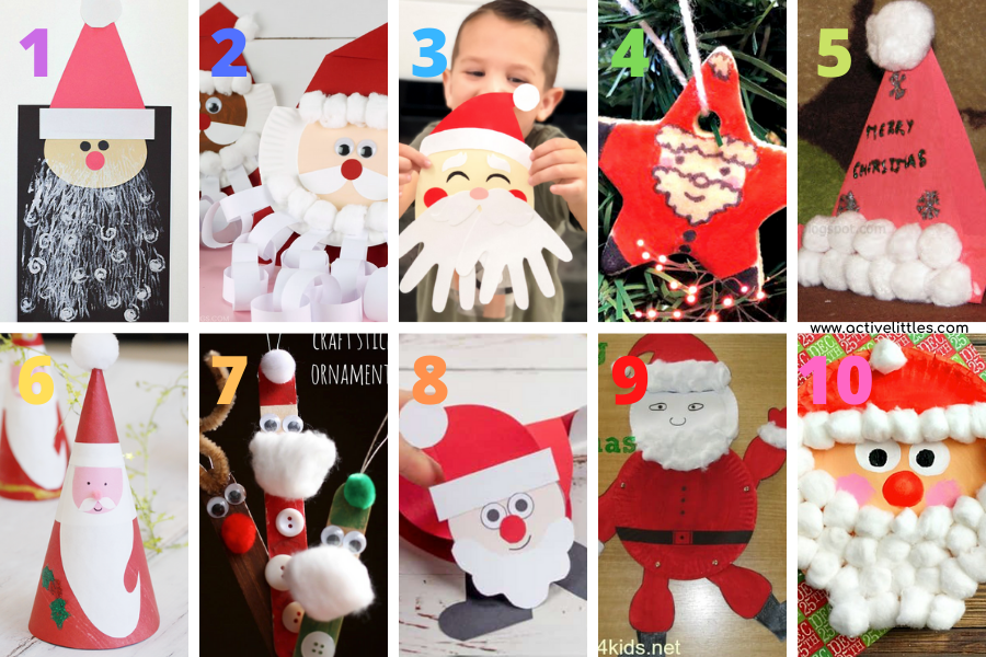 santa claus project ideas for kids