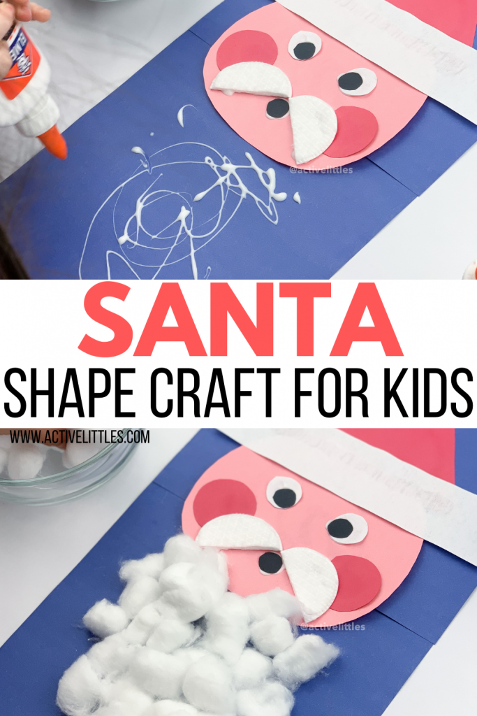 santa craft for toddlers and preschool