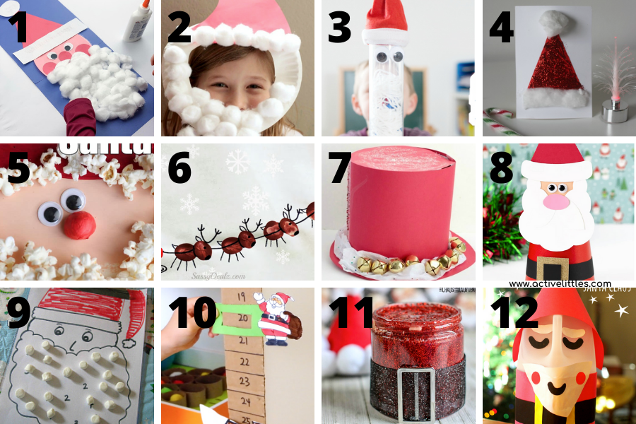 santa craft ideas for preschoolers