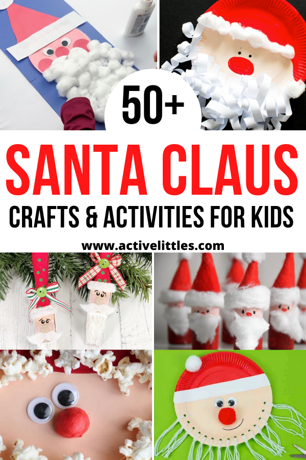 santa crafts for for kids