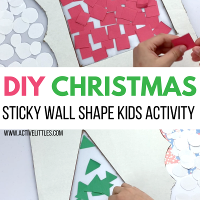 simple christmas sticky wall activity for kids