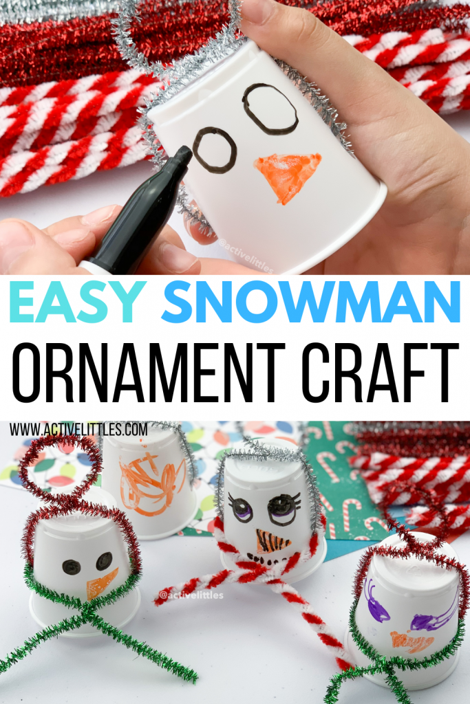 simple ornament snowman kids craft