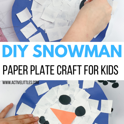 simple paper plate snowman craft for kids